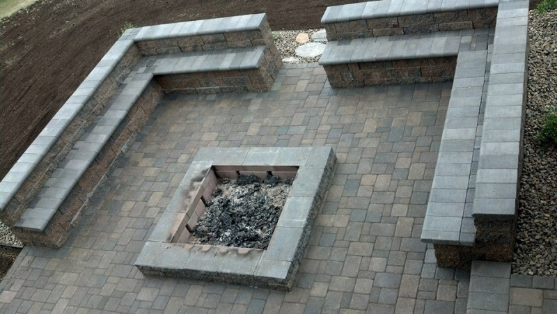 Firepit patio and seating