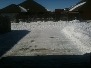 Snow removed from driveway