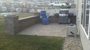 Hardscape patio and wall Bismarck ND